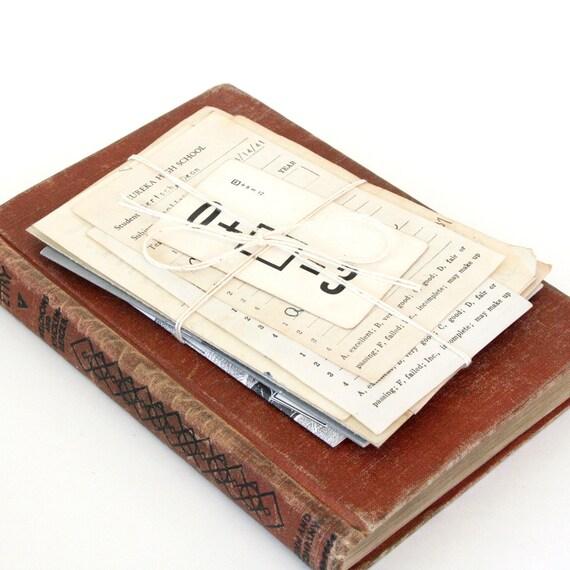 Vintage Paper Pack:  School Paper Bundle