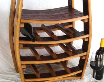 "WINE RACK - ""Azienda"" - Wine Barrel Rack - 100% recycled"