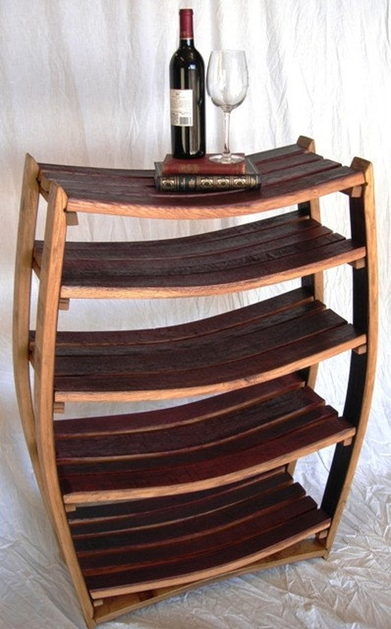 "BOOKCASE - ""Medici"" - Large Wine Barrel Bookcase - 100% recycled"