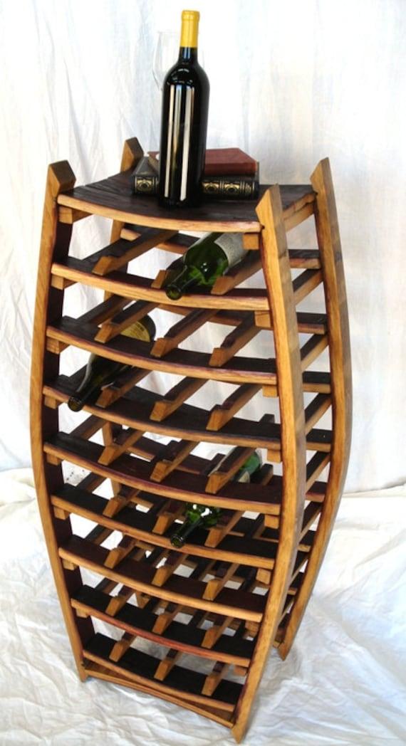 "WINE RACK - ""Médoc"" - Large Narrow Wine Barrel Rack - 100% recycled"