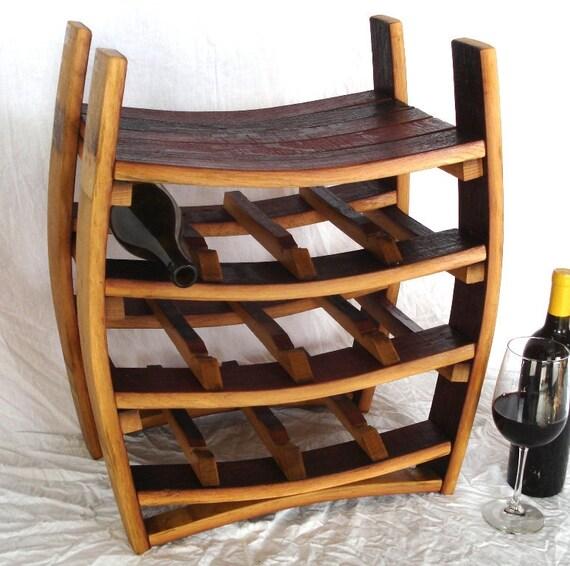 "WINE RACK - ""Azienda"" - Wine Barrel Rack - 100% recycled"