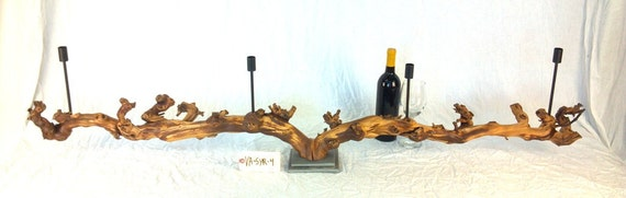 Old Vine Syrah Grapevine Taper Candle Holder - Limited Edition - 100% Natural and Organic - VA-SYR-4