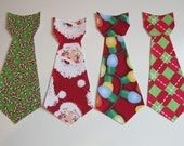 One Jumbo Iron On Christmas Tie Your Choice Applique