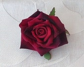 Burgundy Velvet Rose - Small