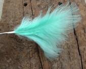 Marabou Feather Pick - Aqua