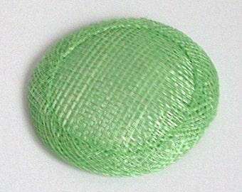 Mini Sinamay Fascinator Base - Green