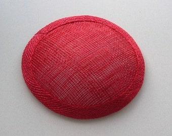 Sinamay Fascinator Base - Red