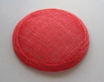 Sinamay Fascinator Base - Antique Red