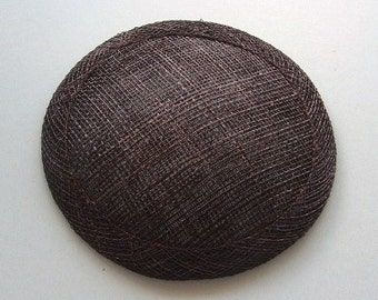 Sinamay Fascinator Base -Chocolate