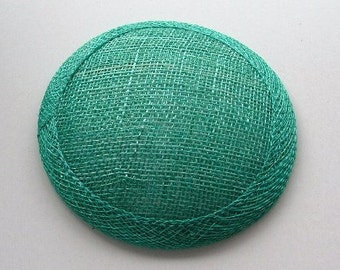 Sinamay Fascinator Base - Jade