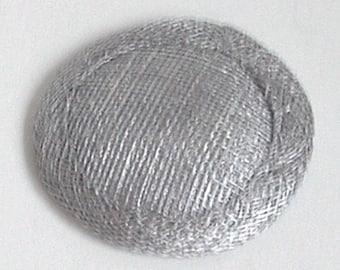 Mini Sinamay Fascinator Base - Silver