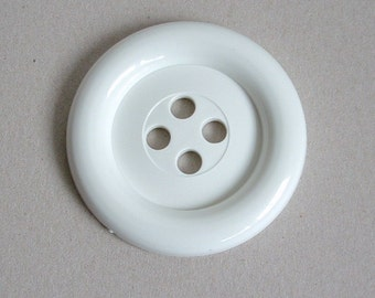 Sale - Extra Large Button - White was 3.00 now 1.00