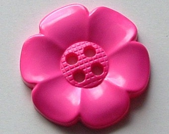 Extra Large Flower Button - Pink
