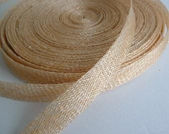 Sinamay Bias Binding 1cm Wide and 2 mtrs long - Barley