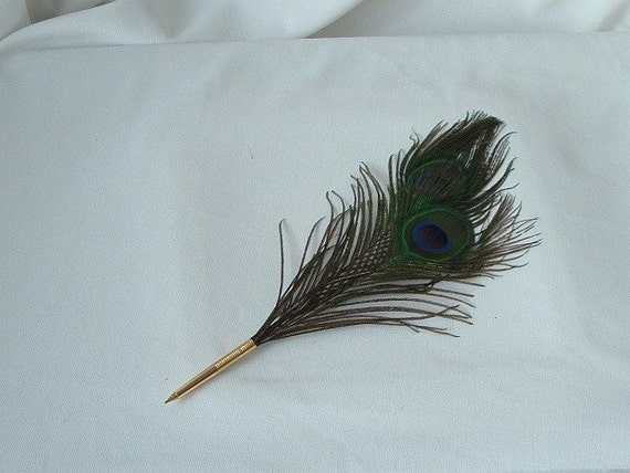 Peacock Eye Feathers with a deluxe ballpoint.