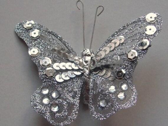 Silver Butterfly - Medium