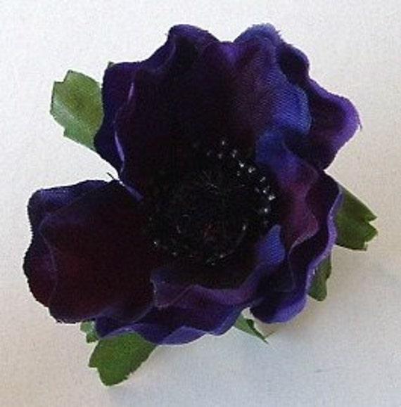 Lot of 3 Small Anemone - Deep Purple