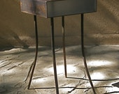 Steel and Plexiglass Side Table