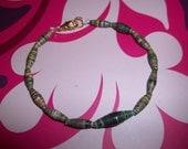 RESERVED Olive Green bracelet