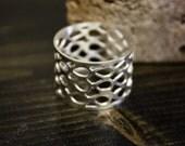 Teardrop Silver Ring