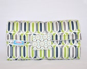 Changing Pad Clutch in Blue, Gray, and Lime