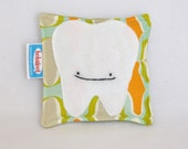 Tooth Fairy Pillow in Orange and Green