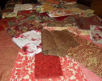 Large Assortment of Fabric Samples with Manufactures Info on Each Piece
