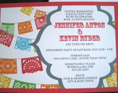 Fiesta Invitations with Papel Picado Banner-PRINTABLE