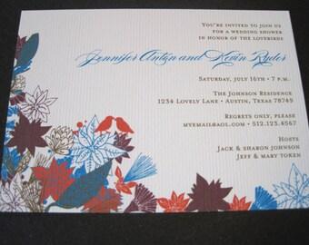 Lovebird Wedding Shower Invitations-Printable