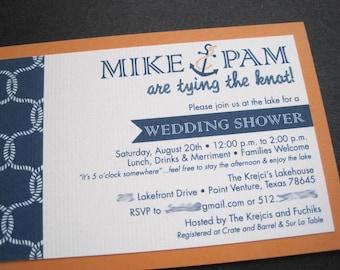 Nautical Wedding Shower Invitation-Printable