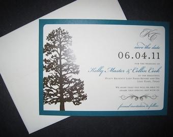 Pine Tree Save the Date-Printable