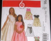 Girls Lined Dresses with Sash
