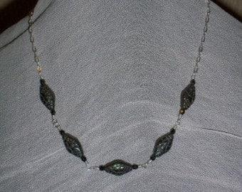 Metalic Green Chocker Necklace