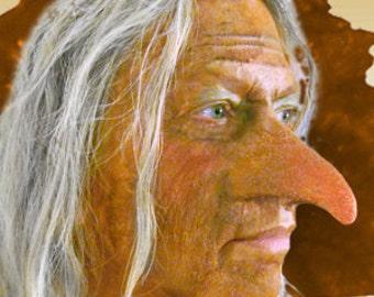 Hag Witch Goblin Tengu Fantasy Cosplay LARP Hallowen Latex Nose