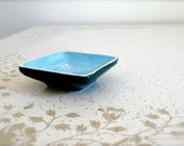 Dark Turquoise and light blue soy dish