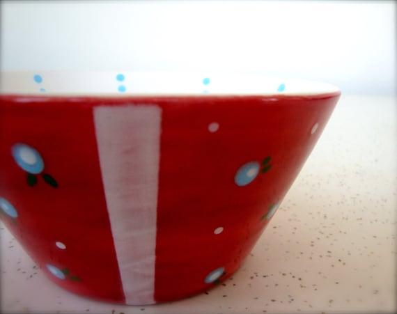 Retro Kitchen Snack Bowl - Red