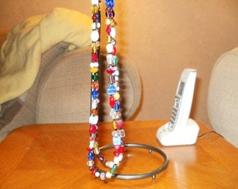somewhere over the rainbow double stranded necklace