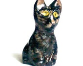 Tortie Cat Figurine, Cat Totem
