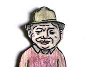 Paper Doll Grandfather - Magnet- Asian Man - Hiroki