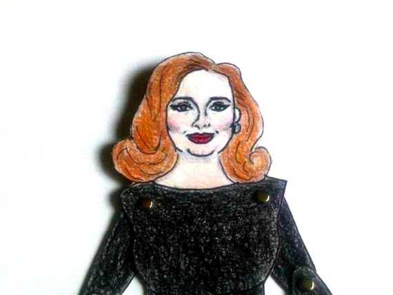 Adele Articulated Paper Doll - Grammy Awards Dress