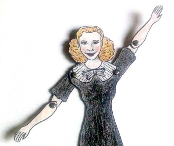 Ginger Rogers Articulated Paper Doll - 1930s Celebrities