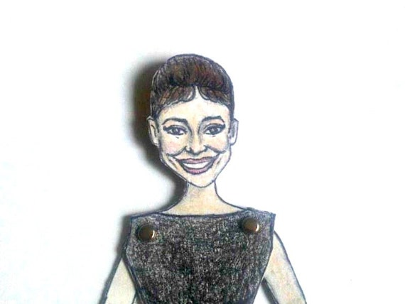 Audrey Hepburn Articulated Paper Doll - Style Icon