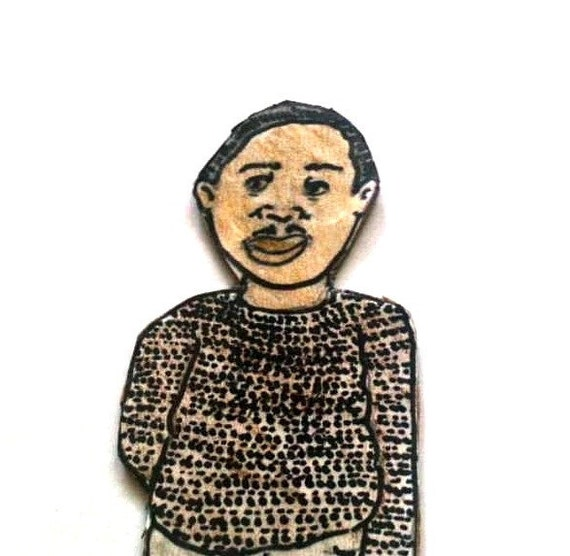 Paper Doll Dad - Magnet- African American Man - Billy