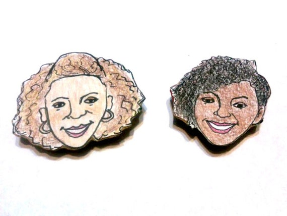 Natural Hair Magnets - African American Women - Janae and Patricia - Updo Hairstyle and Curly Fro
