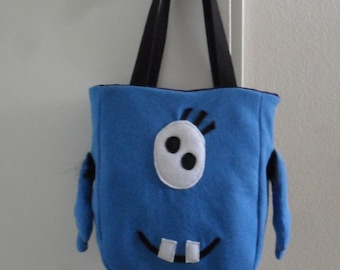 Happy Blue Monster bag