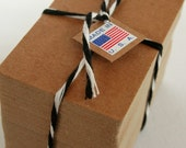 Business Card Size Heavy Kraft Recycled Chipboard Blanks - set of 100 - Crafting or Letterpress or Stamping