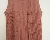 1950s dusky pink waistcoat/vest