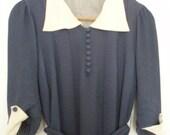 1940s navy sailor dress