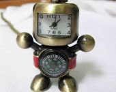 Robot Pocket watch  and Compass Necklace