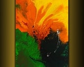 "abstract paintings art 36""x24"" acrylic abstract art modern texture palette knife fire art"